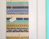 Wall or Door Hanging Organizer in a Multi Pocket Abstract Design