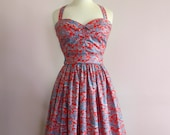 Swell Dame 1950s  style bustier and gathered skirt Made To Order in your measuremments,variety of fabrics