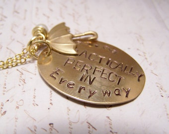 Practically Perfect in Every Way Necklace. Mary Poppins. Spoonful of Sugar