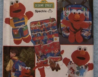 1998 pattern Simplicity 8139 ELMO CLOTHES and ACCESSORIES uncut