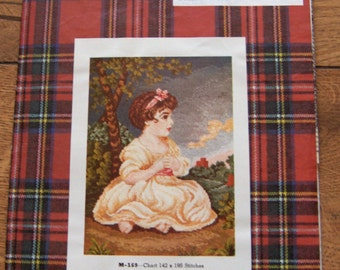 Vintage 1961 Jean McIntosh Cross Stitch petit point pattern The AGE of INNOCENCE chart no. M-169
