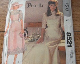 vintage 1983 McCalls sewing pattern 8521 misses bridal gown bridesmaid dress sz 10 special occasion uncut