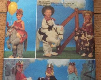 vintage 1993 simplicity pattern 8586 children boy girl costume sz small medium and large HORSE COSTUME