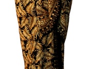 Black Beach Sarong Pareo Wrap Skirt Womens or Mens Tribal Clothing - Batik Pareo Swimsuit Coverup - Tropical Leaf Hawaiian Sarong Lavalava