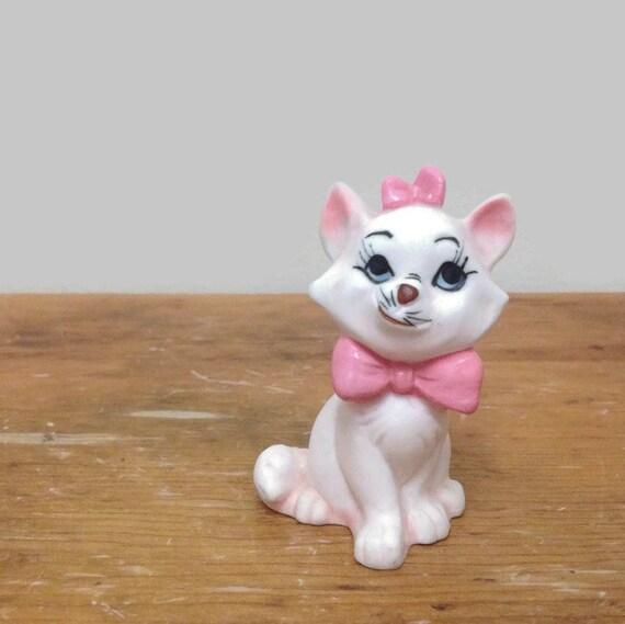 Rare Vintage Marie Aristocat Cat Figurine - Collectible Bone China Animal