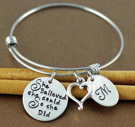 Sweet graduation gift bracelet