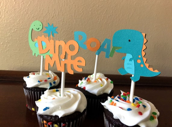 Dinosaur Cupcake Toppers Dinosaur Birthday Party Dinosaur Baby
