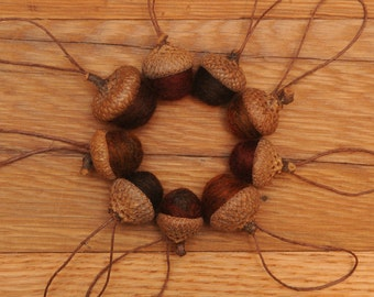 Felted Wool Acorns in Rich Fall Colors,  also available as Ornaments