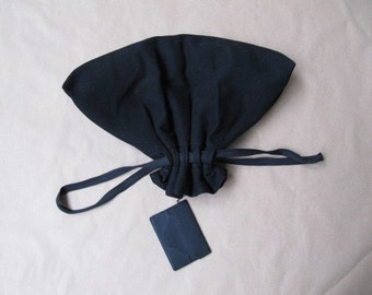 1920s black wool Japanese designer/edwardian mourning purse