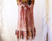 Small Doilie Dress/Upcyled Clothing/Fairy Dress/Upcycled Dress/Eco fairy Dress/Farmhouse Chic/Anthropologie style/cottage chic/rustic farm