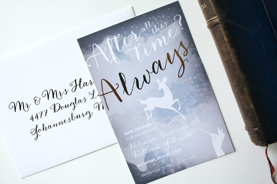 harry potter wedding invitation save the date after all this,
