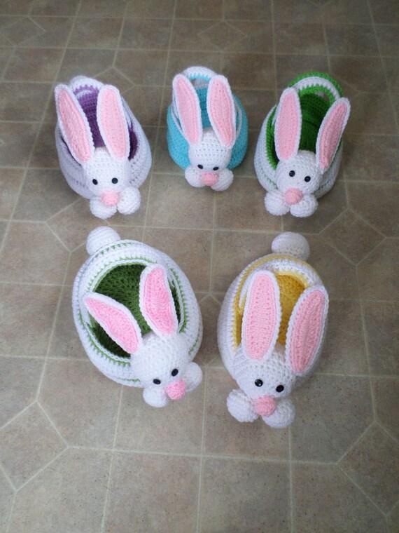 Crochet easter bunny basket sweet t makes three crochet easter bunny basket crochet easter bunny baskets ccuart Choice Image