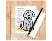 Dog Sympathy Card, Pet Sympathy Card, Dog Memorial Card