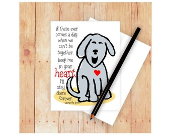 Dog Sympathy Card, Pet Sympathy Card, Dog Memorial Card