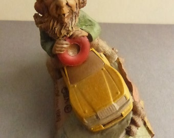 Vintage Cairn Studio Tom Clark Gnome Speedy Race Car Driver Re-Signed
