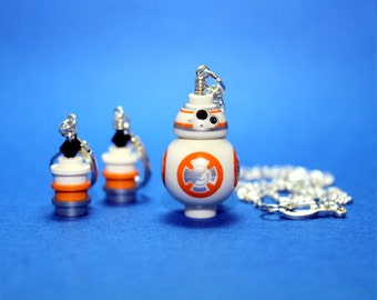 BB-8® Necklace and Earring Set made from Genuine Star Wars LEGO® Pieces - LIMITED