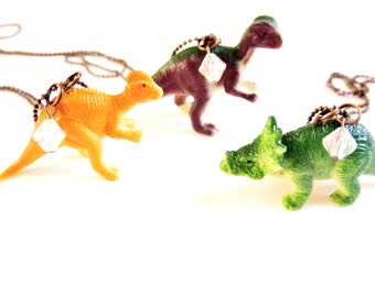 DINOSAUR NECKLACE Dino Necklaces Jewelry Geekery Geek Birthday Party Favors Toy Fun Jewelry Gift Little Girl Accessory Pendant For Kids Cute