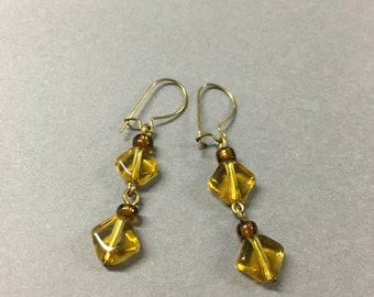 Gold diamond shaped dangles