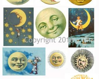 Printable Victorian Celestial Images Collage Sheet. #101 Instant Digital Download, Easter Scrapbooking, Altered Art