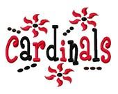 Cardinals Machine Embroidery Design 4x4 7x5 10x6 University Team Instant Download Basketball Football Baseball Soccer Sports baby little boy