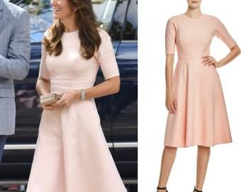 blush pink kate dress custom made swing shape