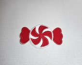 Free Shipping Ready to Ship Peppermint Candy Fabric iron on applique