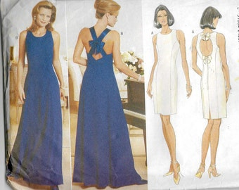 Uncut, Misses Size 6-10, Sewing Pattern, Butterick 4797, Woman, Dress Evening Gown, Maxi, Formal, Bridesmaid, Wedding Party, Donna Ricco