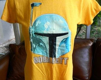 Boba Fett - Star Wars vintage tee from 1980 - yellow size small/XS