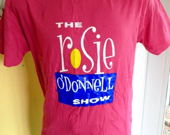 Rosie O'Donnell Show 1990s vintage TV show tee shirt - fuscia size L/XL