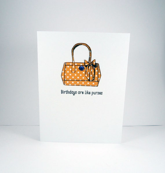 Happy Birthday Card Purse Card Funny Birthday Card for her – Funny Birthday Cards About Getting Old