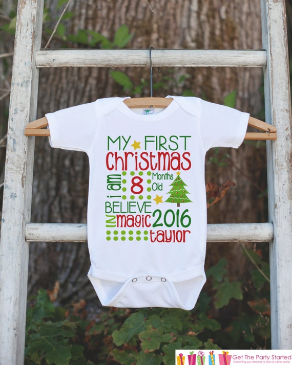 Like this item? - Baby's First Christmas Outfit First Christmas Onepiece