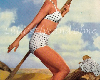 Color Postcard of Actress Ziva Rodann - 1950's - Bathing Suit