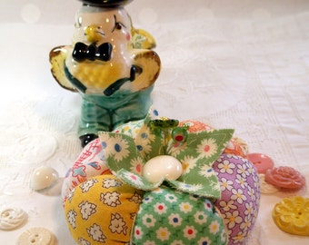 1930's Inspired Patchwork Tomato Pincushion- Made to Order