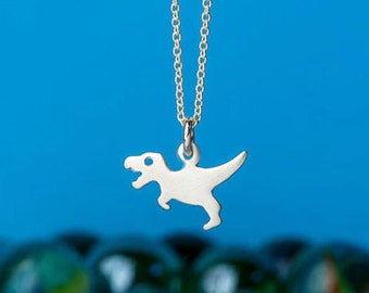 T Rex Necklace Dinosaur Necklace Tyrannosaurus Pendant Sterling Silver Teen Dino Pendant Animal Jewelry Kids Jurassic Park inspired