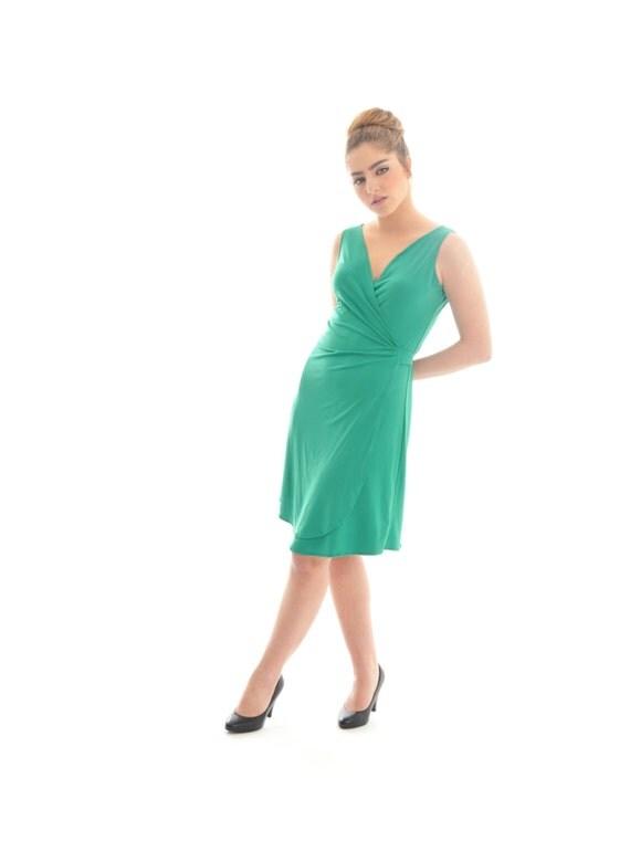 Crazy SALE, Hurry up- only few left! Summer dress, Short summer dress, Women short dress, Wrap dress, Green wrap dress, Green summer dress