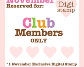 RESERVED for Club Members ONLY - November's Exclusive 2 Cute Ink Digital Stamp - Penny and Her Pup Digital Stamp