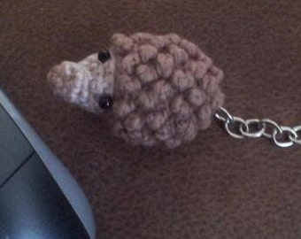 """Hamie the Hedgehog / Hand Crochet or Knit inspired by """"over the hedge"""" / custom made toy / pocket buddy plush / tiny animal"""
