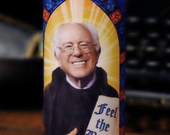 Bernie Sanders Prayer Candle / Bernie for President / Feel the Bern!
