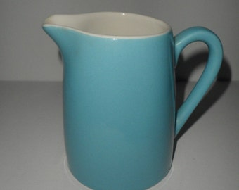 Vintage Turquoise Blue Creamer Cream Pitcher Dish