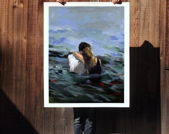 Capsized .  extra large wall art . giclee print