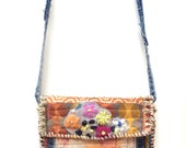 Artsy Boho Crossbody Bag Handcrafted in Earthy Colors