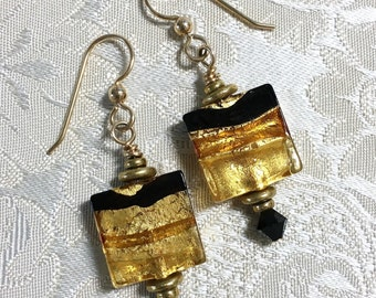 Murano Gold Foil Earrings
