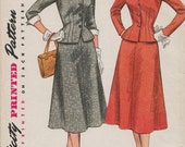 Simplicity 4183 / Vintage 50s Sewing Pattern / Skirt Jacket Suit / Size 20 Bust 38