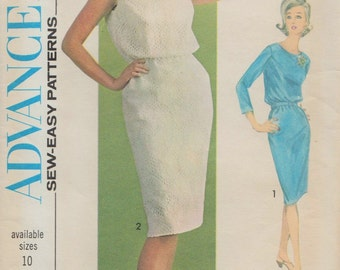 Advance 3462 / Sew Easy / Vintage 60s Sewing Pattern /  Dress / Size 18 Bust 38