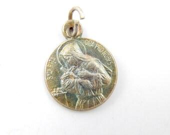 Vintage Saint Rita - Virgin Mary Catholic Medal - Patron Saint of Mothers - Mother's Day Charm - Rosary Supplies - Catholic Jewelry - V85