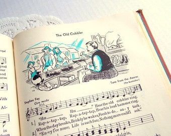 Vintage Music Pages / Children's Hymns / 5 Pages / Old Book Pages / Vintage Ephemera / Childrens Book Pages