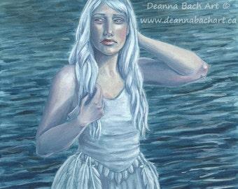 Swan Lake - fantasy fairy gothic art print by Deanna Bach