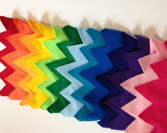 Party Pack of 10 Felt Crowns - Rainbow, Children, Kids, Childs, Birthday