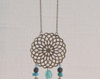 Tsula - Feather Dreamcatcher Necklace