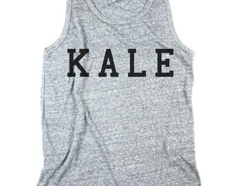 Mens kale tank, kale shirt, work out shirt, workout, yoga shirt, muscle shirt, Men Heather Grey Tank Top Shirt, Small, Medium, Large, XL, 2X